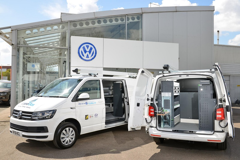 VW Transporters as plumber's mates