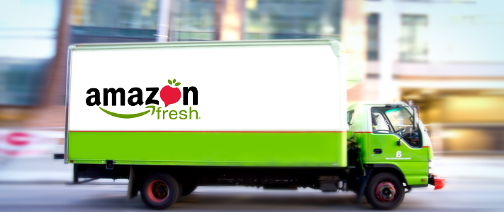 Amazon trials home food deliveries - initially around Great London with third-party vehicles