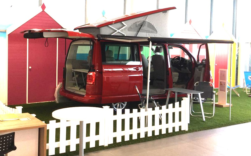 Part of the JCT600 Group's display area for Californias in Hull as Volkswagen Van Centre network grows to 98 outlets