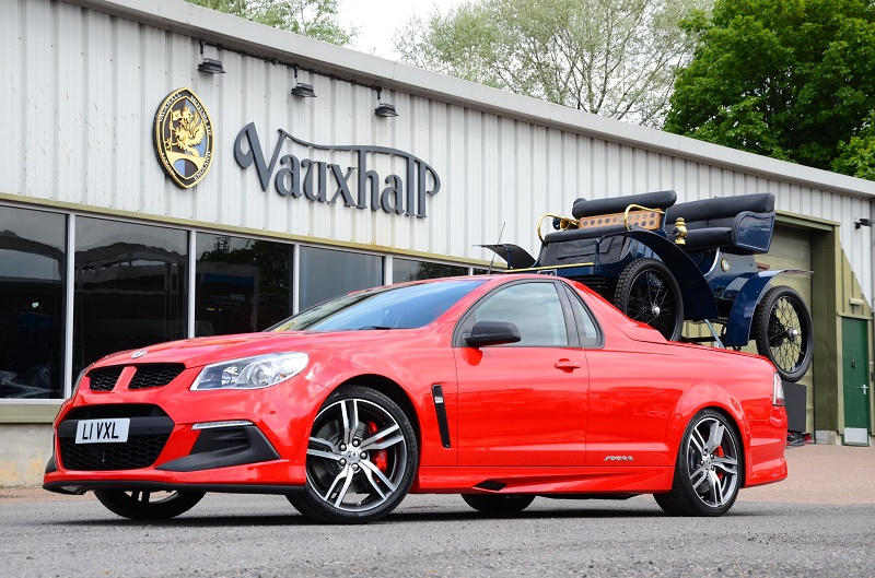 Superfast workhorse - the Vauxhall Maloo VXR8 carries the century-old first Vauxhall Superfast new Vauxhall VXR8 Maloo pick-up Goodwood-bound