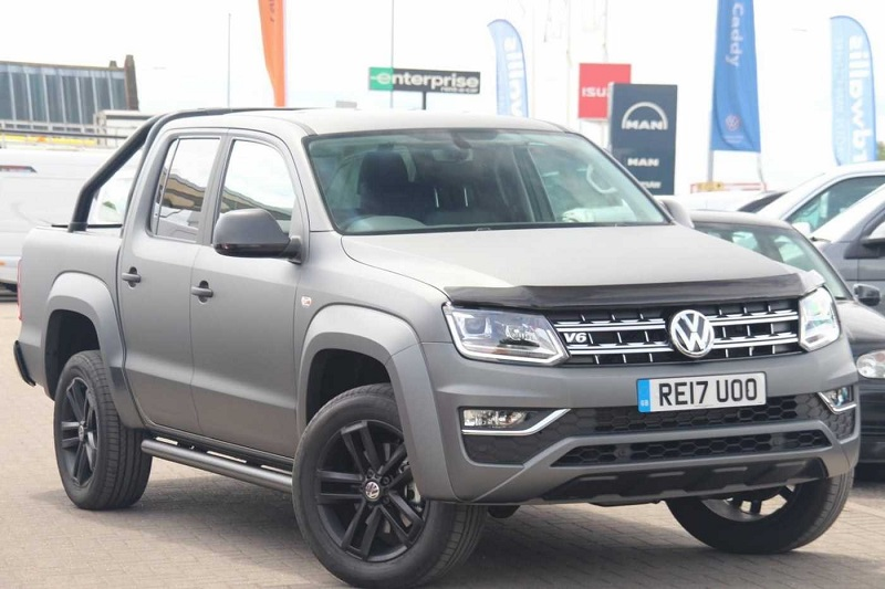 Matte grey Amarok means business | Business Vans