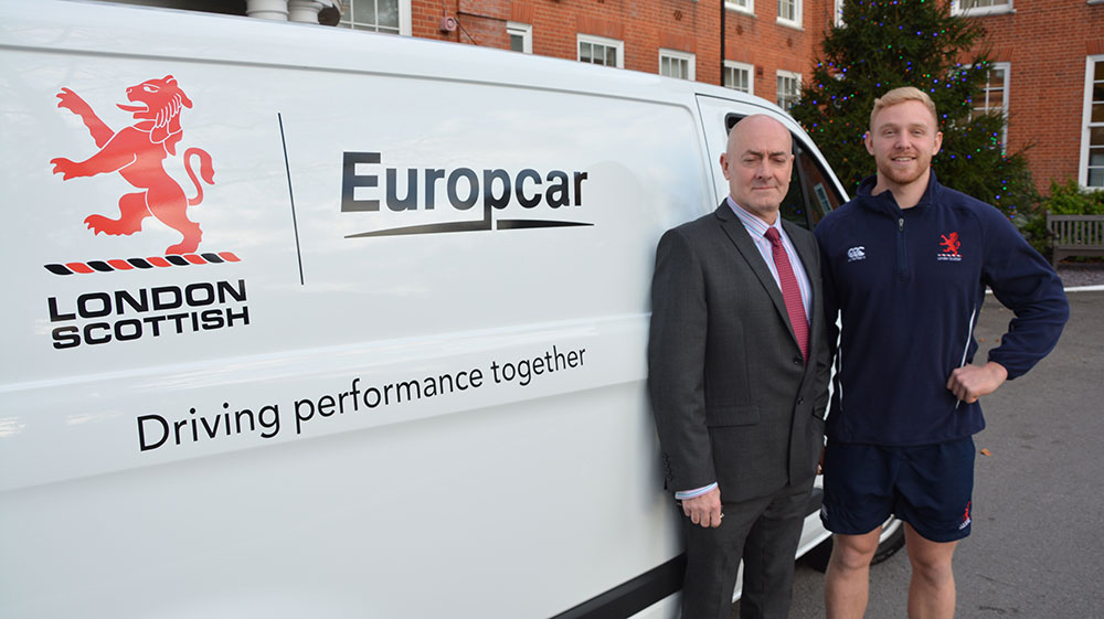 Europcar supports London Scottish rugby club