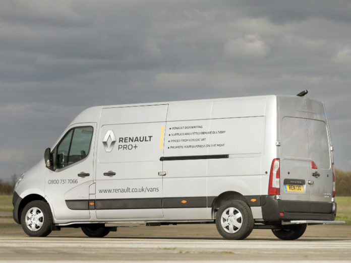 Renault Pro+ Commercial Vehicles offers manufacturer supplied van sign writing