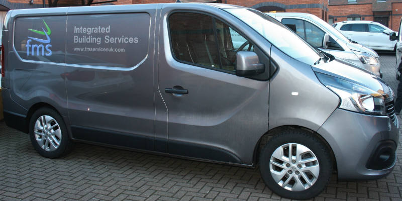 FMS Integrated Building Services van