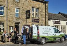 James Places electric van delivering beer