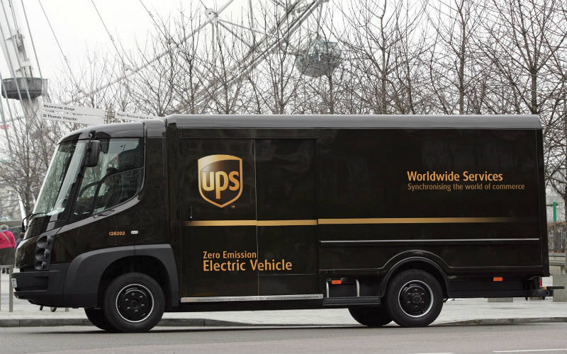 UPS Modec fully electric vehicle used in London