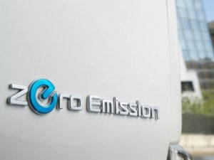 Zero Emission badge on extended range Nissan e-NV200