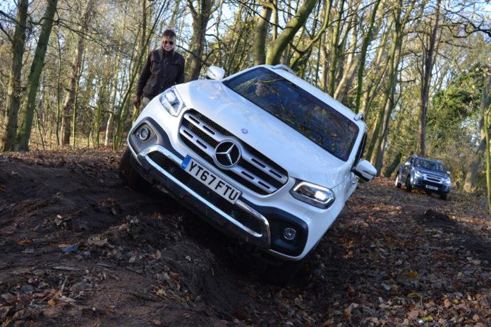 Mercedes X-Class testing off-road