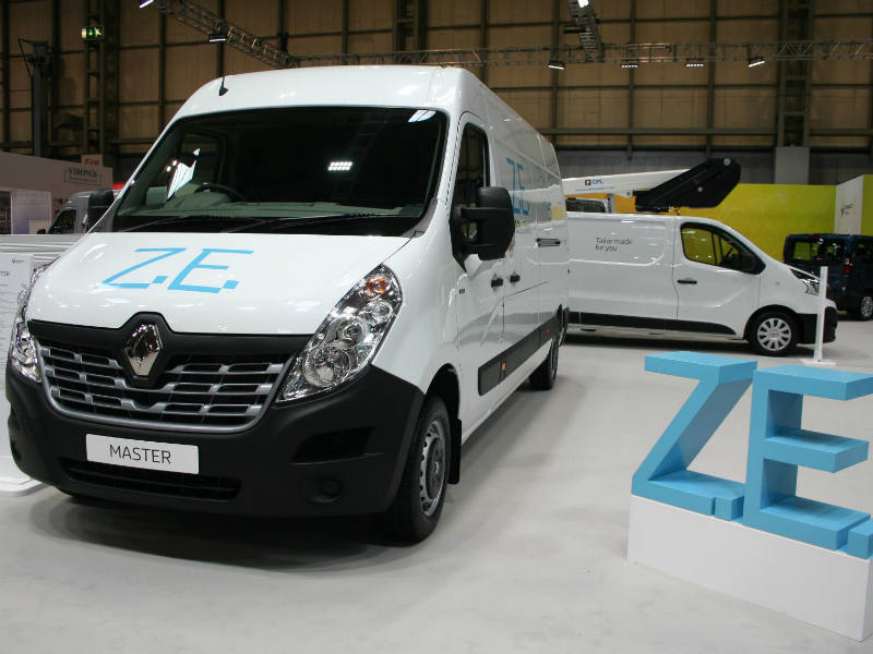 Renault Master ZE at the CV Show