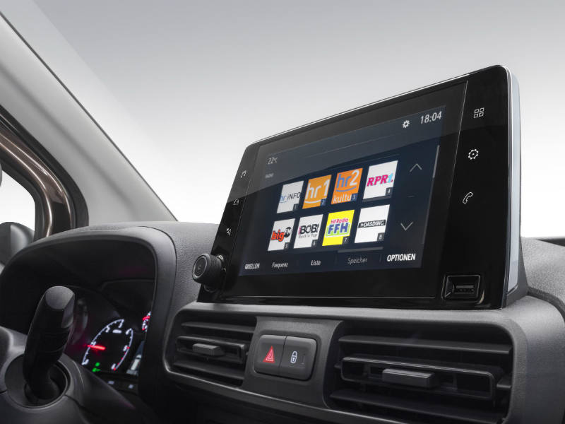 Vauxhall Combo 8 inch colour touchscreen