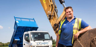 Tipping a winner: James Berry with his new FUSO Canter
