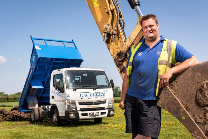 Tipping a winner:James Berry with his new FUSO Canter