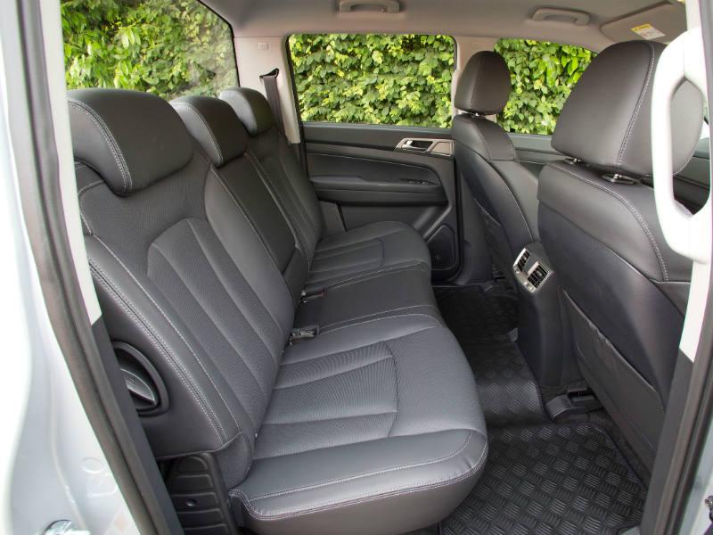 Musso Saracen rear seats