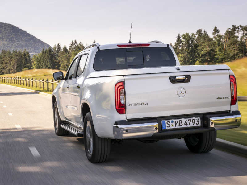 Rear view of Mercedes X-Class
