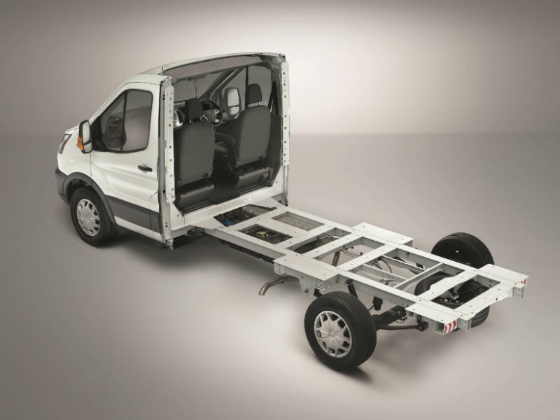 Transit skeletal chassis cab is available to order now